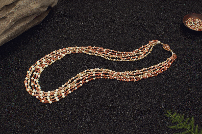 Photo of5-Strand with Fossil Mammoth Beads